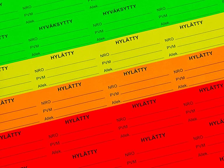 neontarrat, neonväriset tarrat, neonfärgade dekaler, neonfärgade etiketter