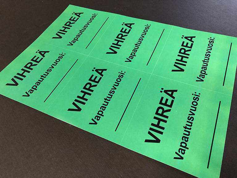 pvc free labels, vinyl free stcker