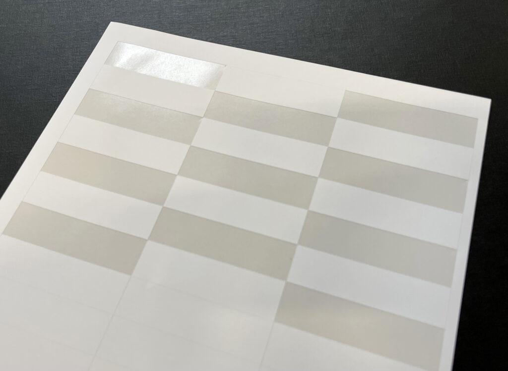 Säänkestävä laserkelpoinen tarra-arkki tulostukseen